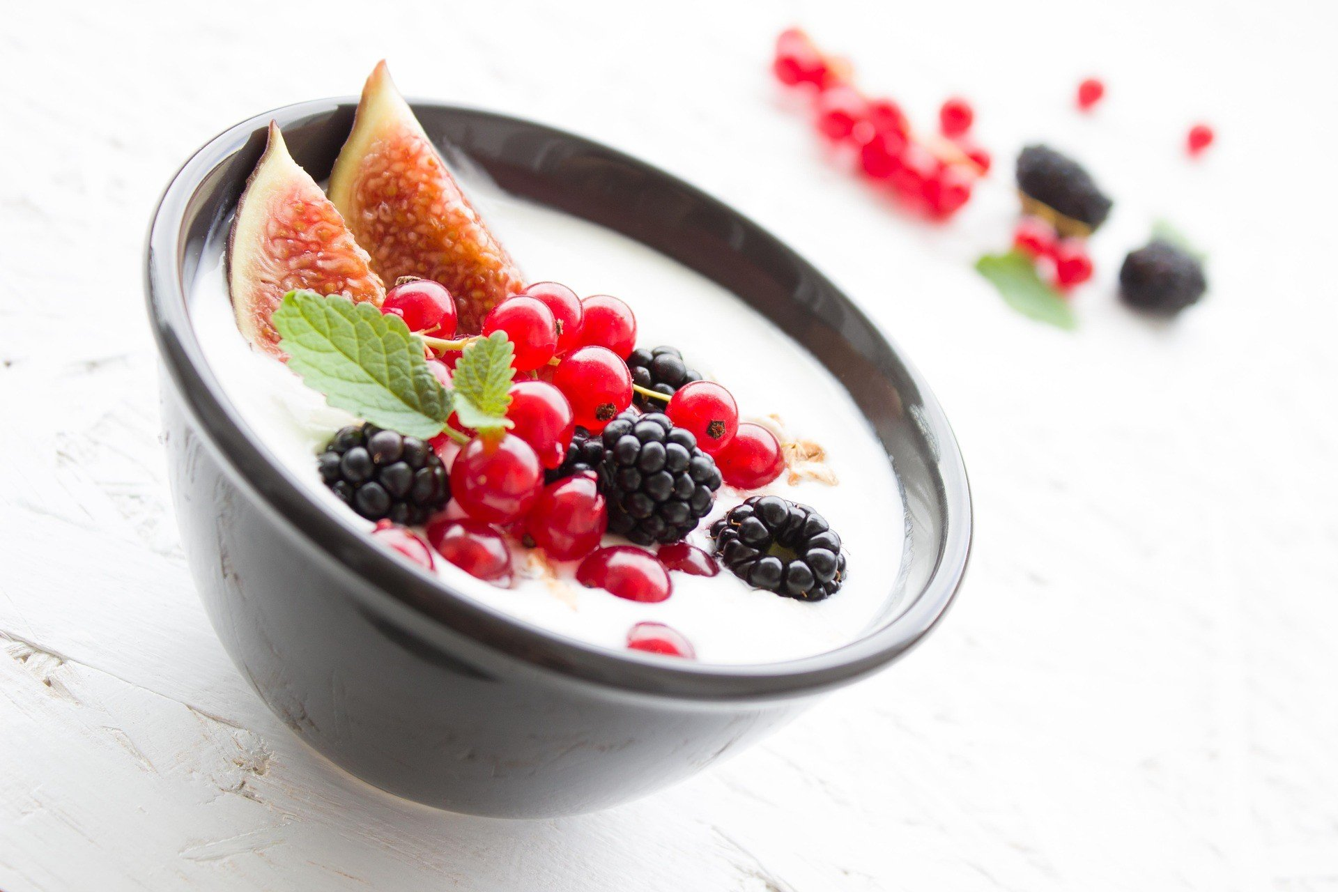 Berries Breakfast Fruit Fruits Fig Yogurt Healthy